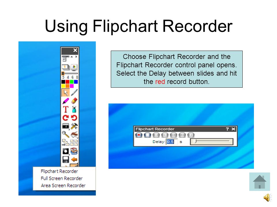 Click on the Camcorder icon. Choose which type of recording you want to make.