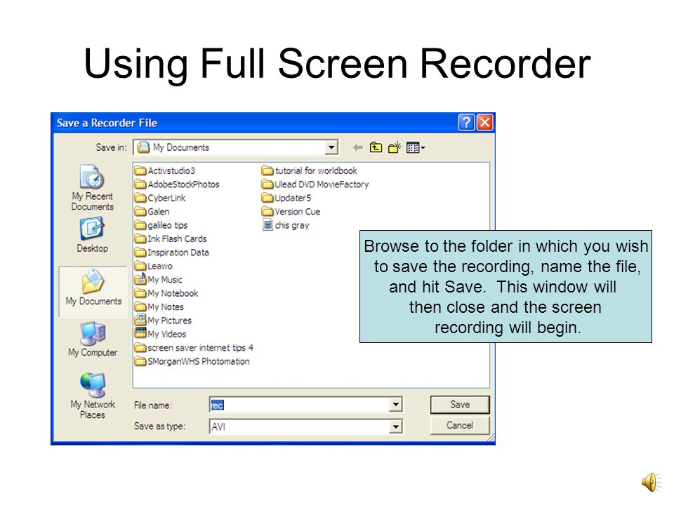 Using Full Screen Recorder First, open the PowerPoint Presentation you wish to record.
