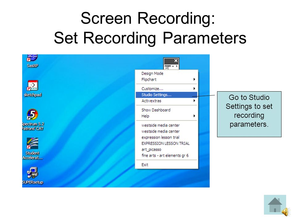 Click on Flipchart Recorder icon (video camera) and drag to toolbar.