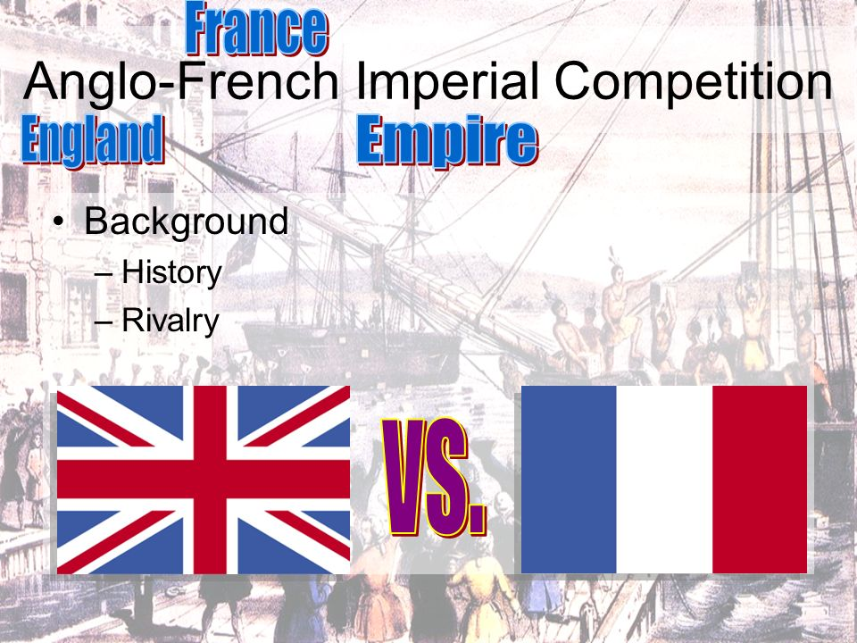 Anglo-French Imperial Competition Background –History –Rivalry