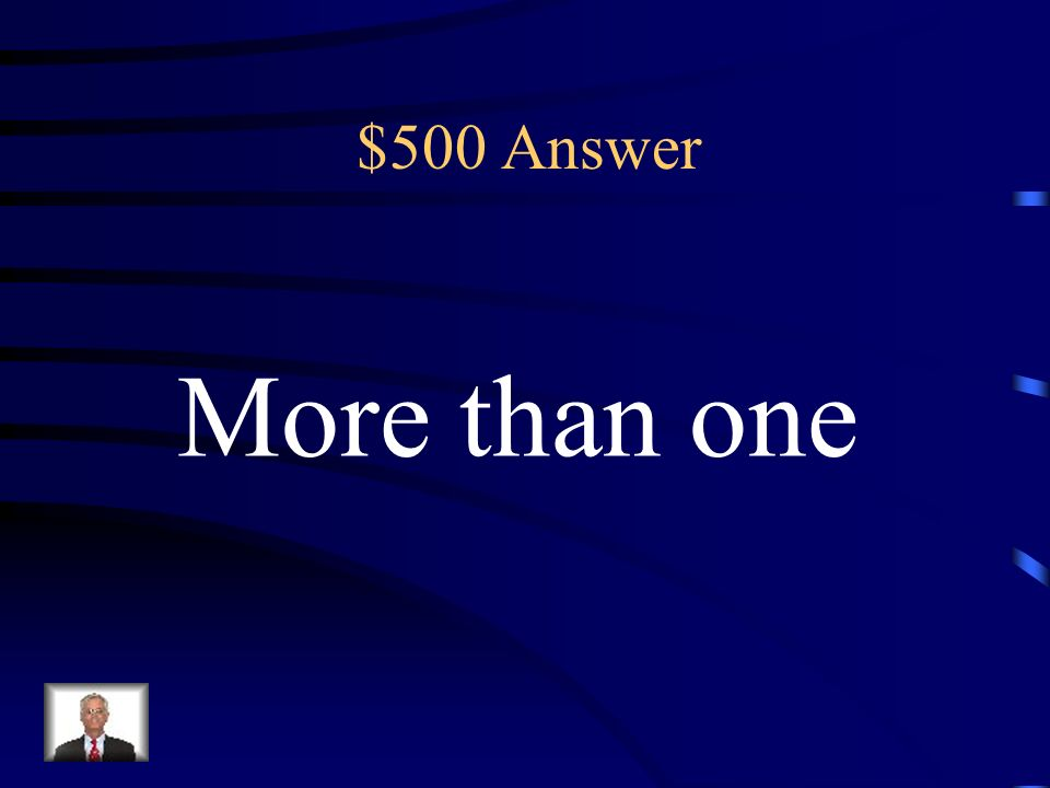 $500 Which word means more than one? The key term in this sentence would be: (A) Word (B) Means (C) More than one (D) Which