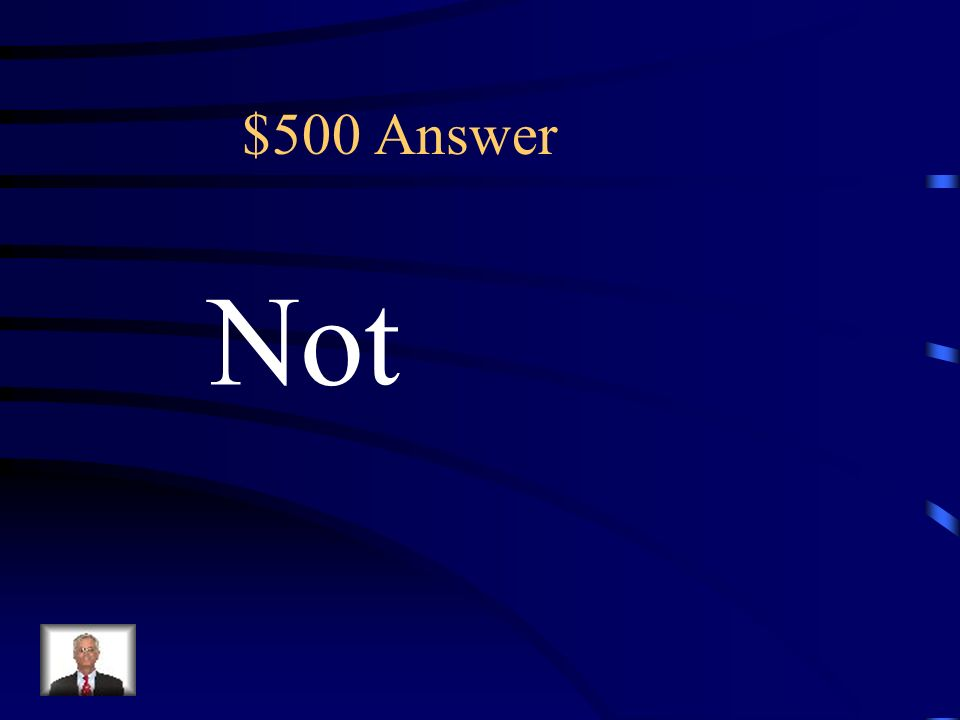 $500 Which one is not part of the set? The key term in this sentence would be: (A) Not (B) Set (C) One (D) Part