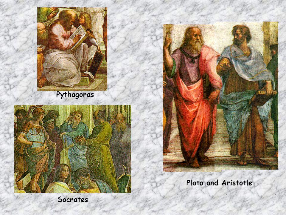 Pythagoras Socrates Plato and Aristotle