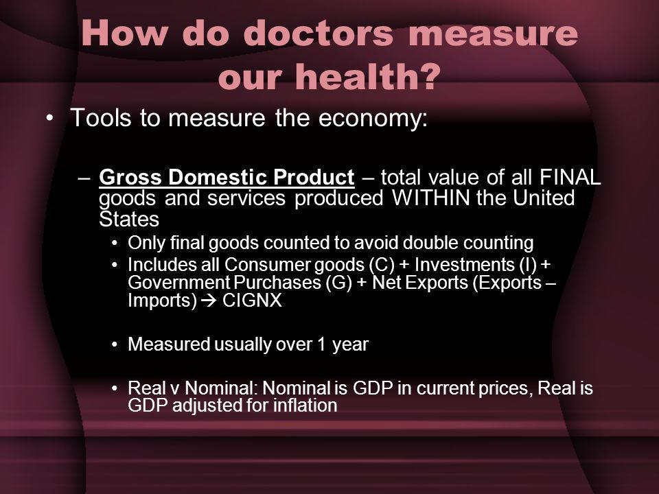 How do doctors measure our health.