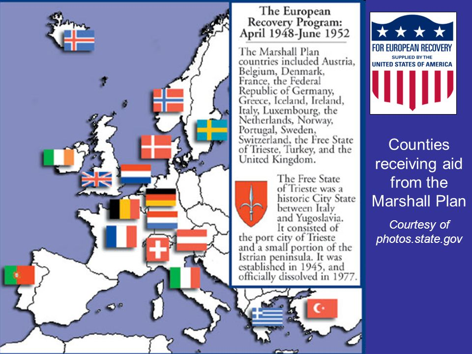 Countries in eastern Europe, Soviet satellite nations, turned down Marshall Plan aid.