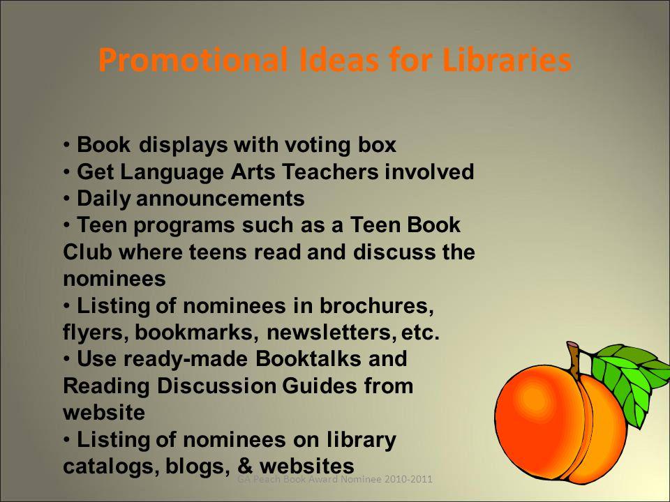Winner 2010 Hunger Games by Suzanne Collins GA Peach Book Award for Teen Readers GA Peach Book Award for Teen Readers
