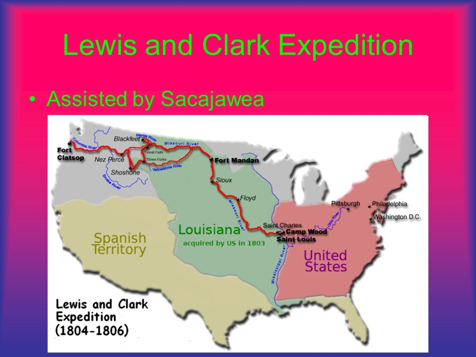 Lewis and Clark Expedition Assisted by Sacajawea