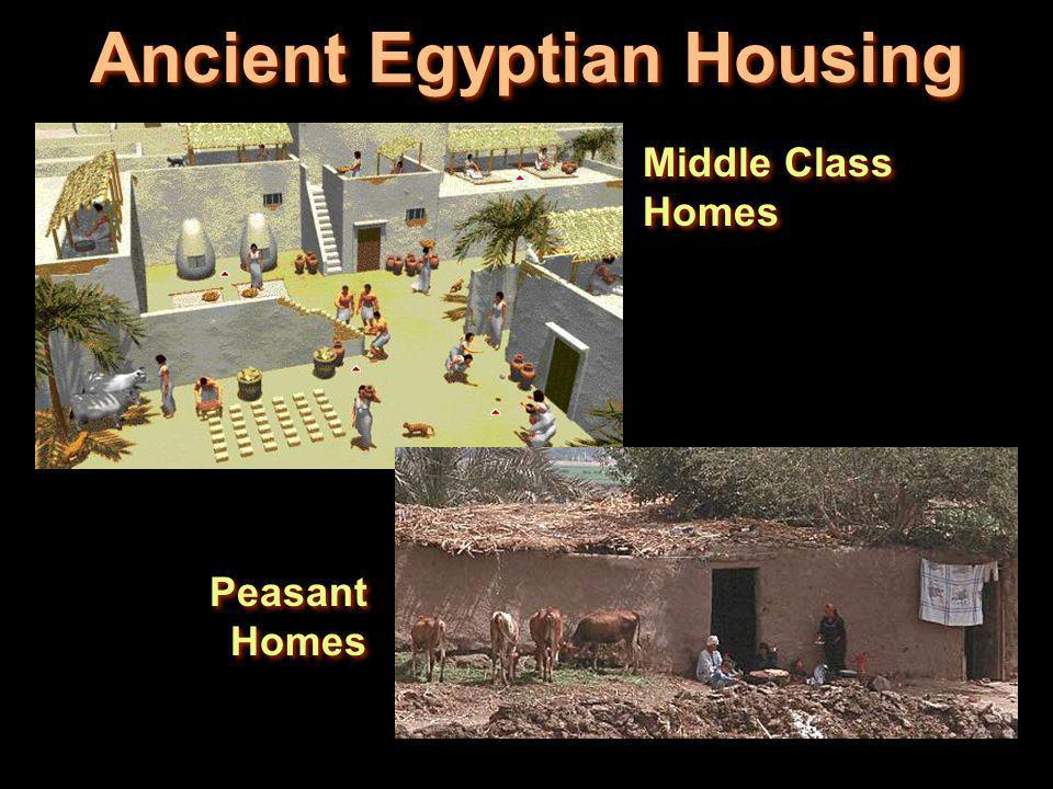 Ancient Egyptian Housing Middle Class Homes Peasant Homes