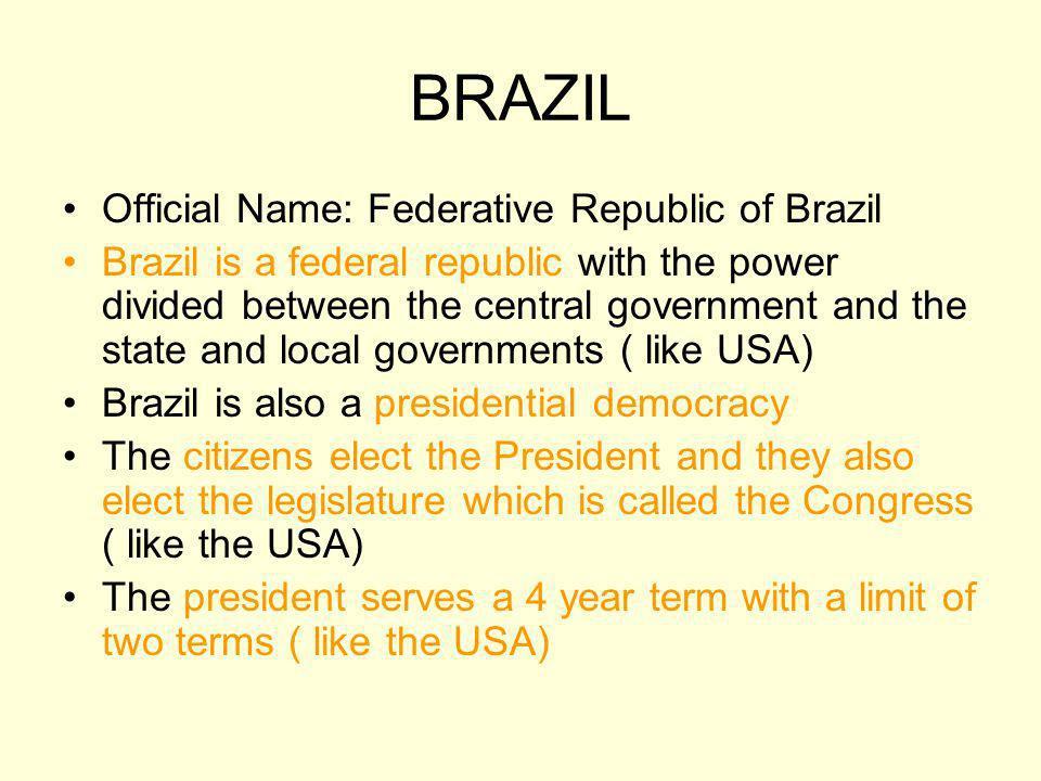 BRAZIL Brazils president: Luis Inacio Lula de Silva
