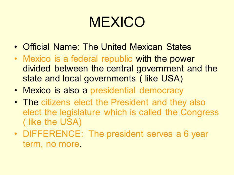 MEXICO Mexicos President: Felipe Calderon