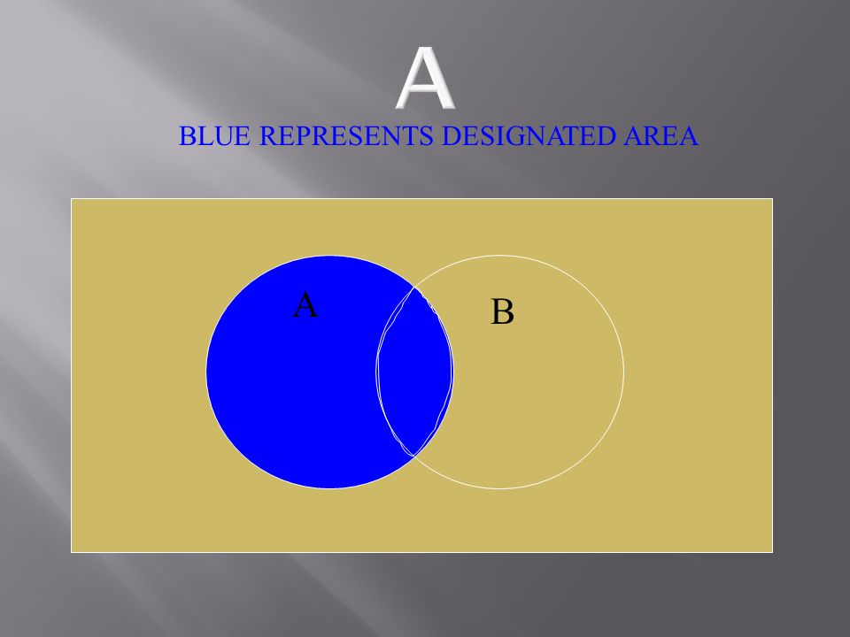 A B BLUE REPRESENTS DESIGNATED AREA