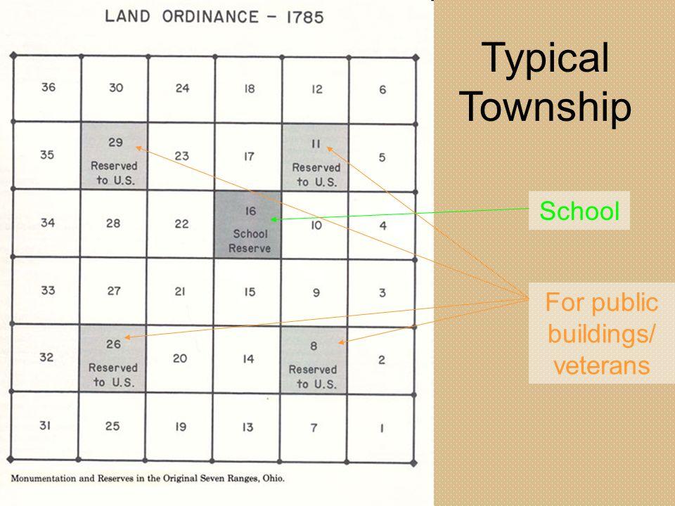 Typical Township School For public buildings/ veterans