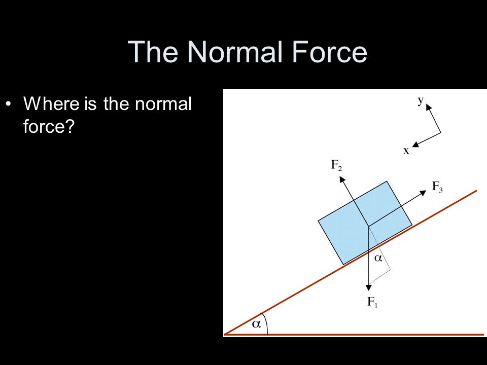 The Normal Force Where is the normal force?