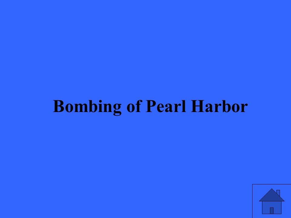 15 Bombing of Pearl Harbor