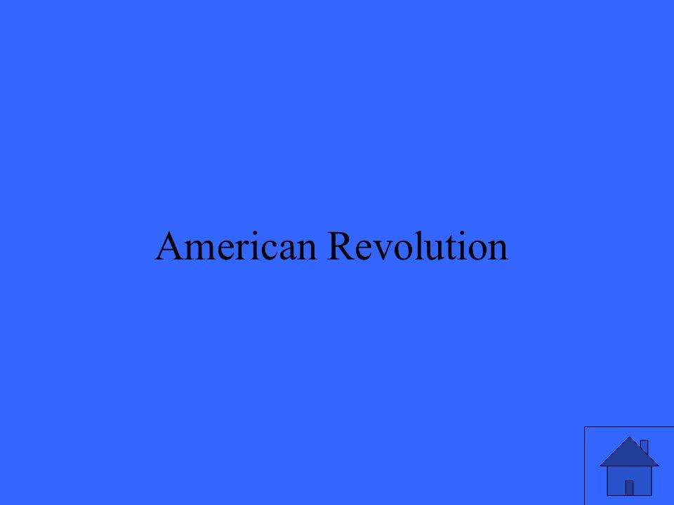 21 American Revolution