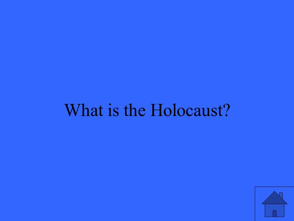 20 What is the Holocaust?