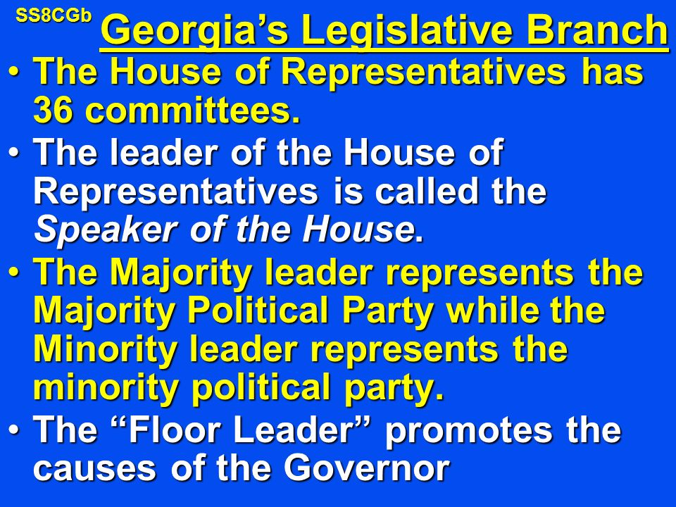 The House of Representatives has 36 committees.