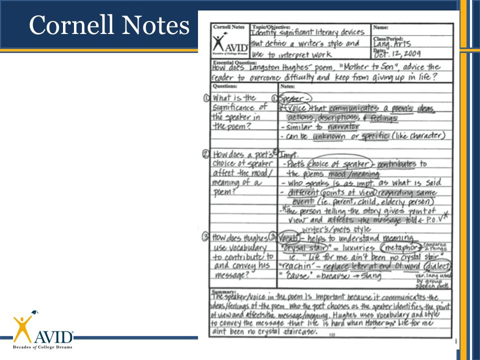 23 Cornell Notes