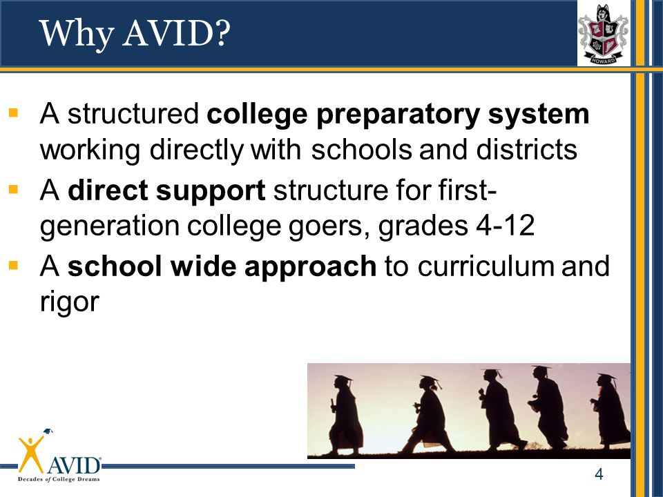 4 A structured college preparatory system working directly with schools and districts A direct support structure for first- generation college goers,