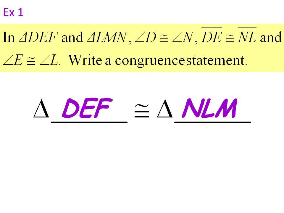 Ex 1 DEFNLM