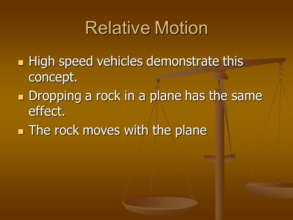 High speed vehicles demonstrate this concept. High speed vehicles demonstrate this concept. Dropping a rock in a plane has the same effect. Dropping a