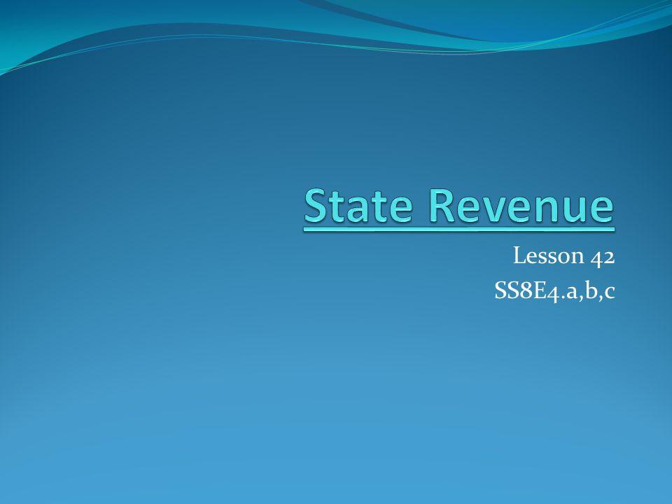 Lesson 42 SS8E4.a,b,c