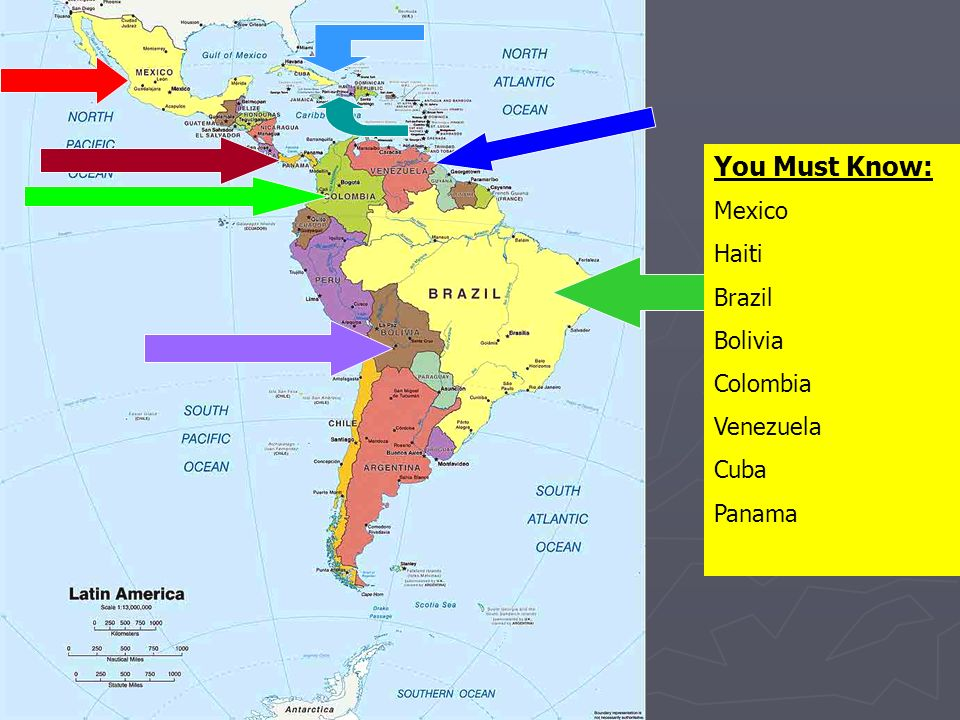 You Must Know: Mexico Haiti Brazil Bolivia Colombia Venezuela Cuba Panama