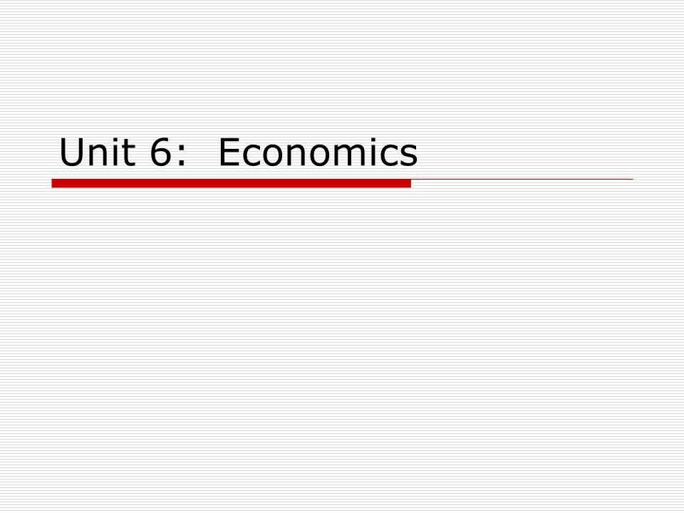 Unit 6: Economics