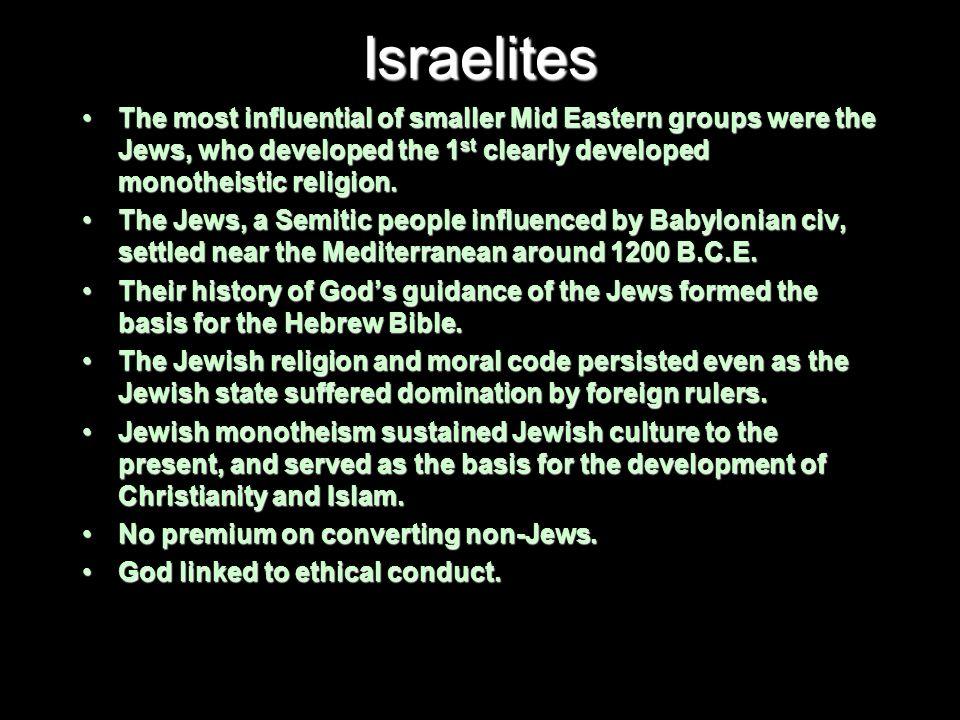 Kings of Israel 1 st king of the Israelites was Saul (1020-1000 B.C.E.).1 st king of the Israelites was Saul (1020-1000 B.C.E.).