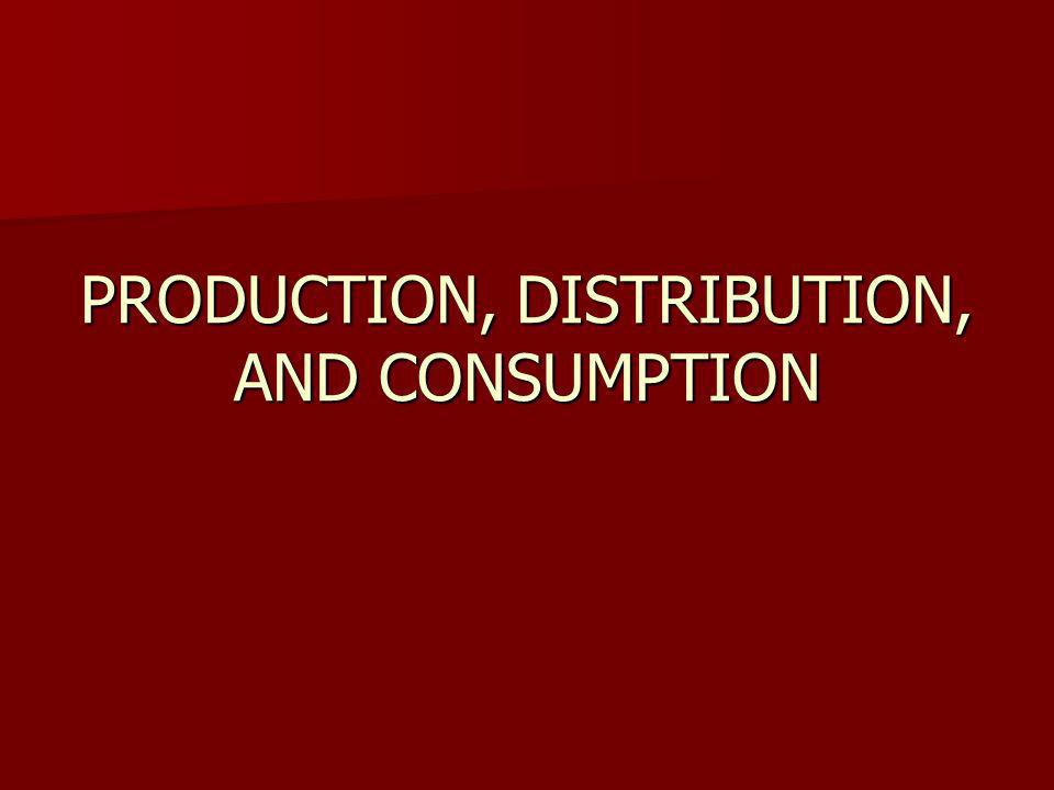 PRODUCTION, DISTRIBUTION, AND CONSUMPTION