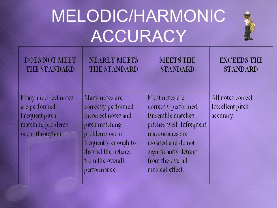 MELODIC/HARMONIC ACCURACY