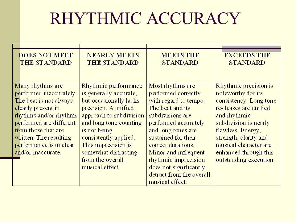 RHYTHMIC ACCURACY