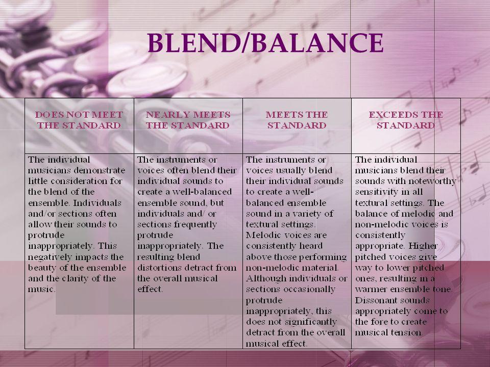 BLEND/BALANCE