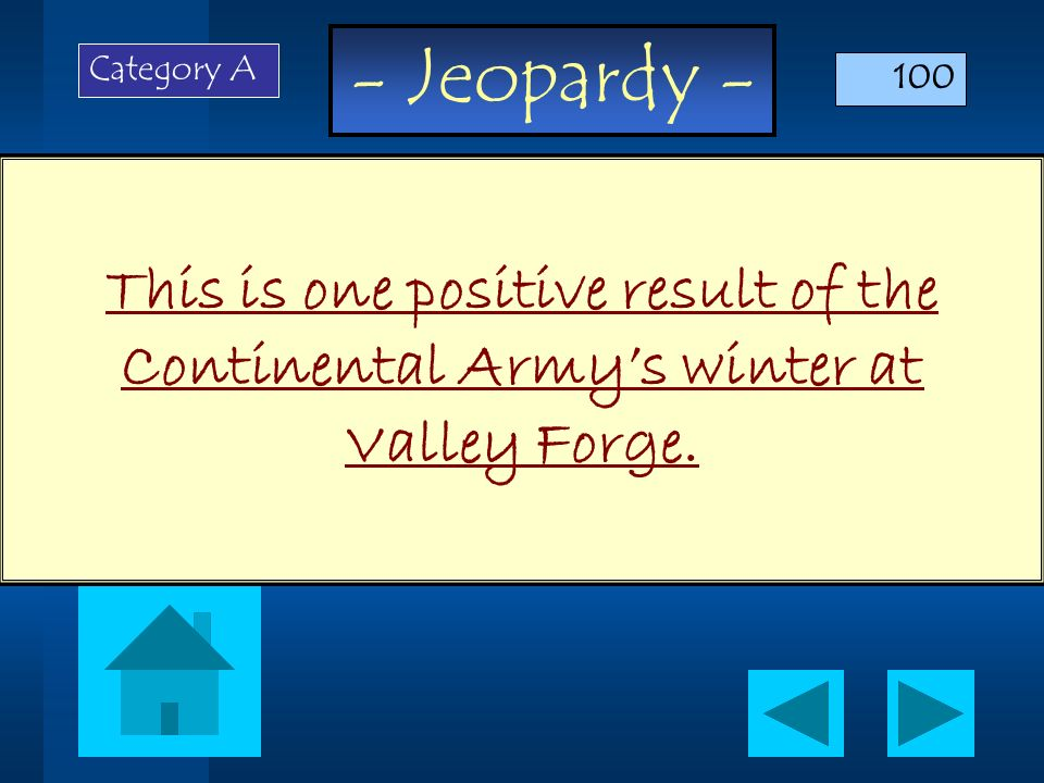 - Jeopardy - What is a platform? Category D 500