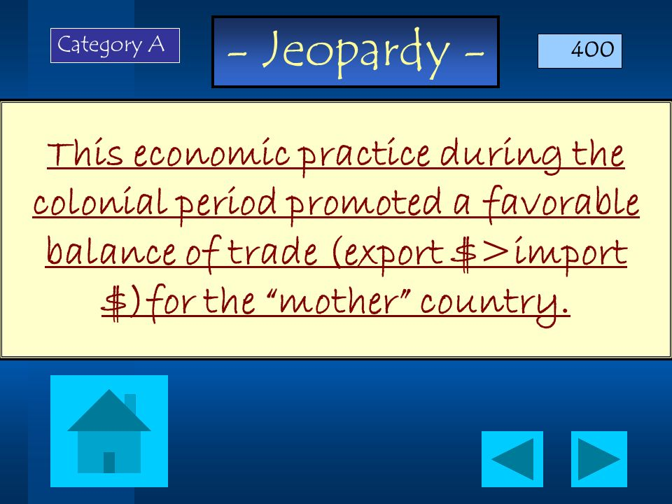 - Jeopardy - Questions are randomly arranged, NOT by degree of difficulty