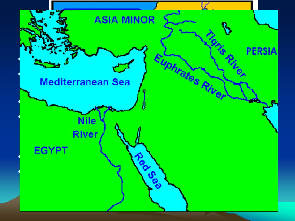 Physical Features Jordan River Rising in Syria and flowing about (200 mi) south to the northern end of the Dead Sea. Tigris River Originates in the Ta