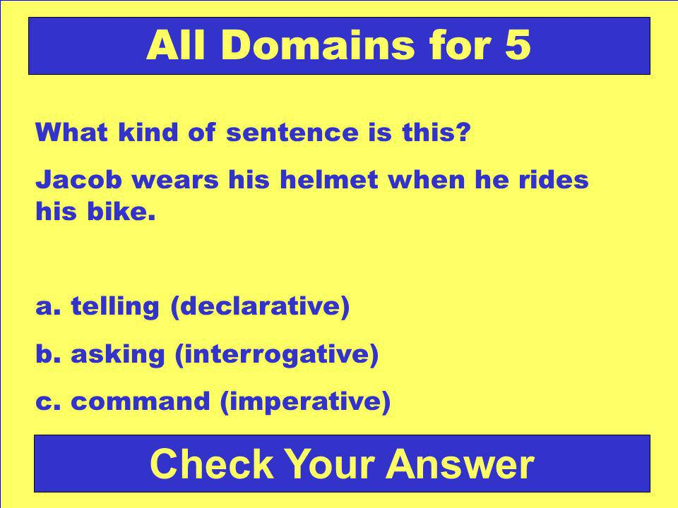 Back to the Game Board All Domains for 4 Answer: c. Ga-H
