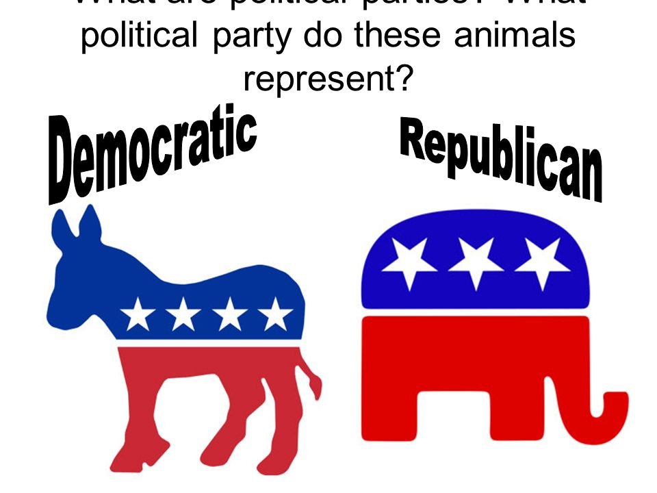 What are political parties What political party do these animals represent