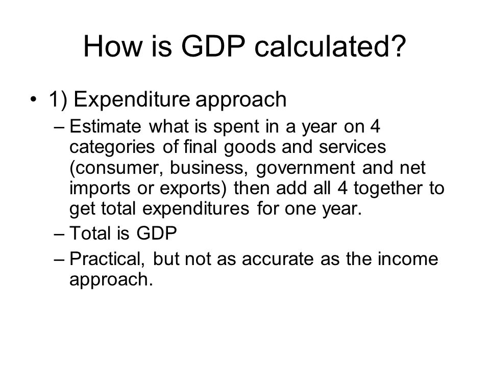How is GDP calculated.