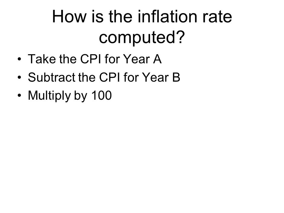 How is the inflation rate computed.