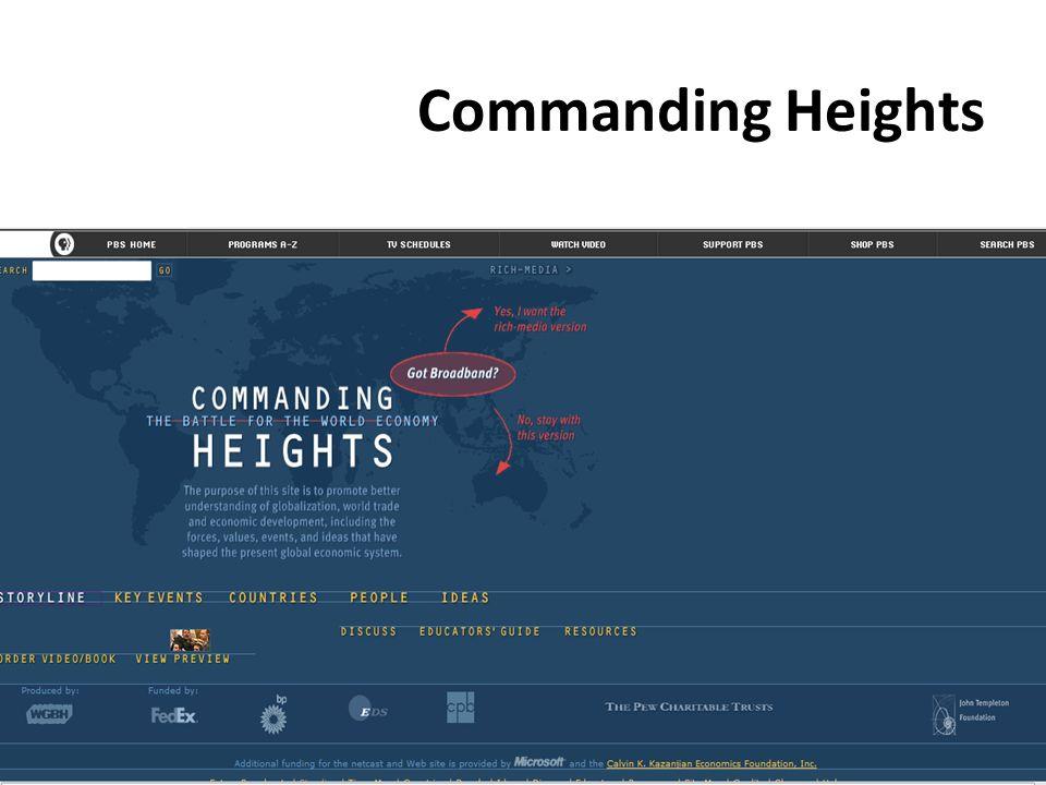 Commanding Heights Georgia Council on Economic Education w w w. g c e e. o r g