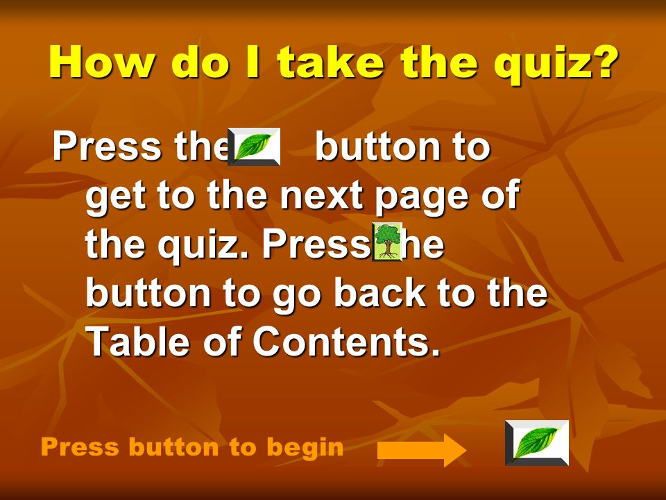 Are you ready for a quiz? Then lets begin! Press button to continue