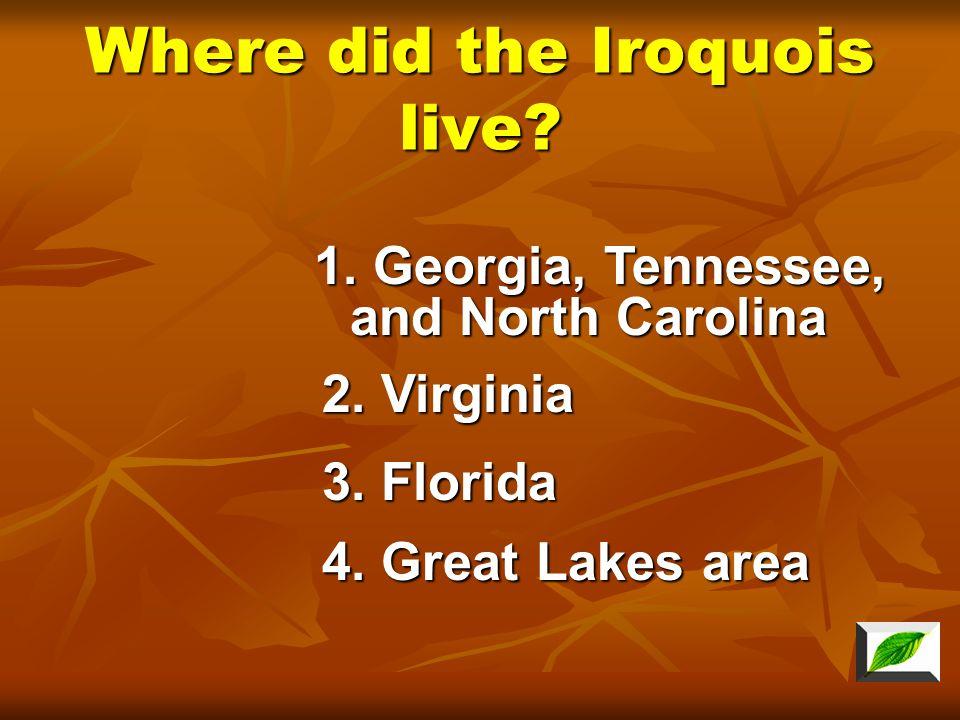 What tribe did Hiawatha belong? 2. Seminole 3. Iroquois 4. Cherokee 1. Powhatan