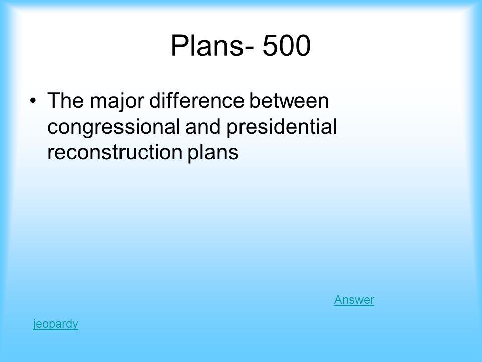 Plans - 500