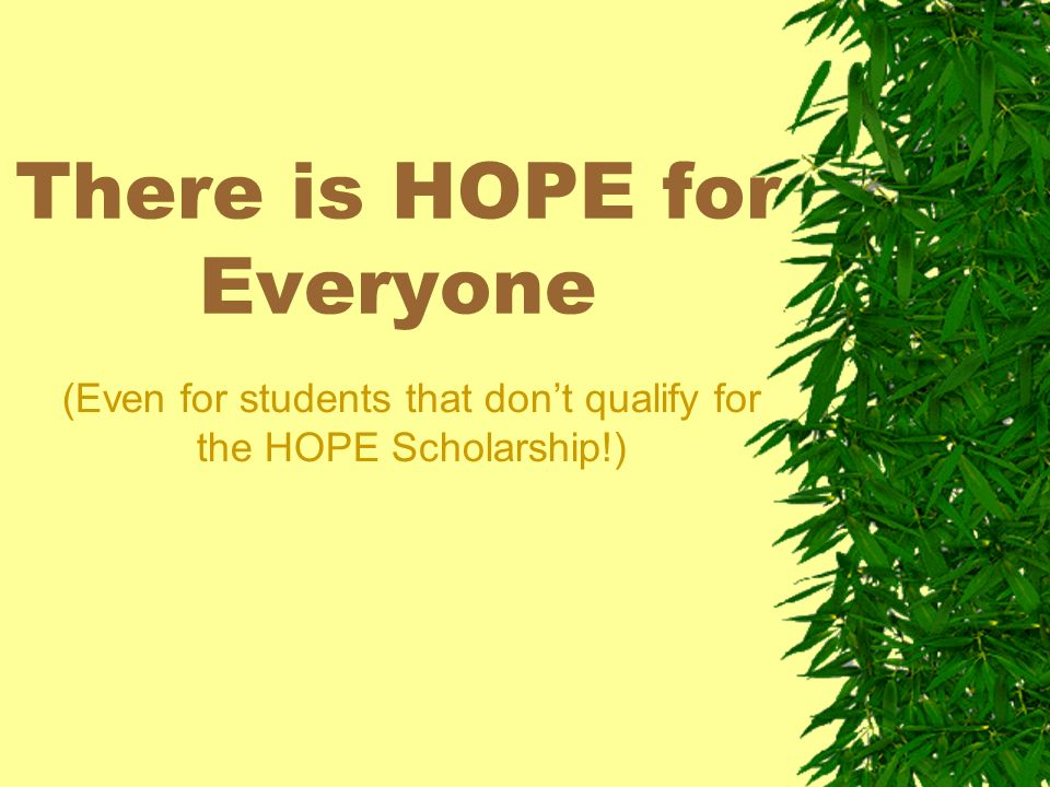 There is a difference HOPE Scholarship 3.0 Core GPA for College Prep students OR 3.2 Core GPA for Tech Prep students.