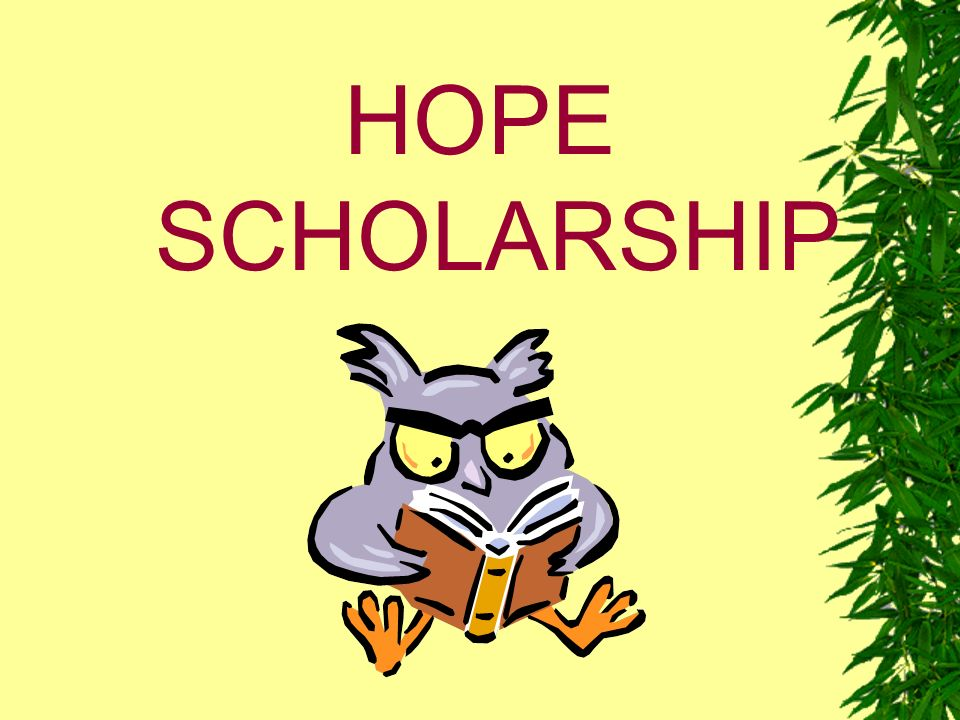 HOPE Scholarship May be applied to Associate Degree programs at Technical Colleges/ Institutes.