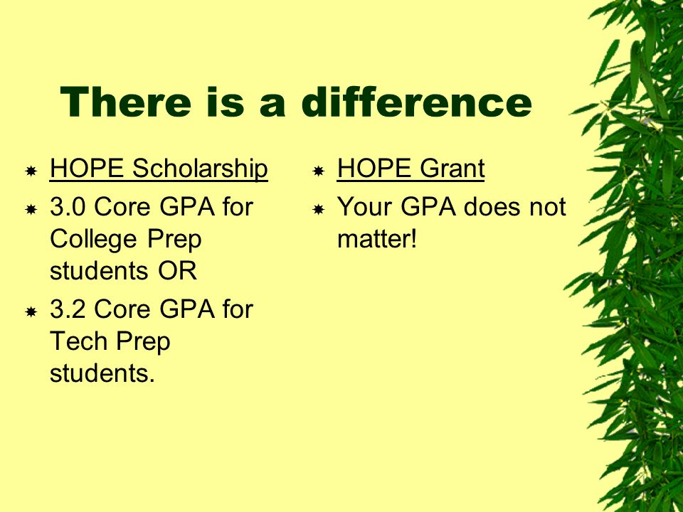 HOPE Grant and HOPE Scholarship Pays for: Tuition at GA Public Colleges and Tech Institutes/ Colleges.