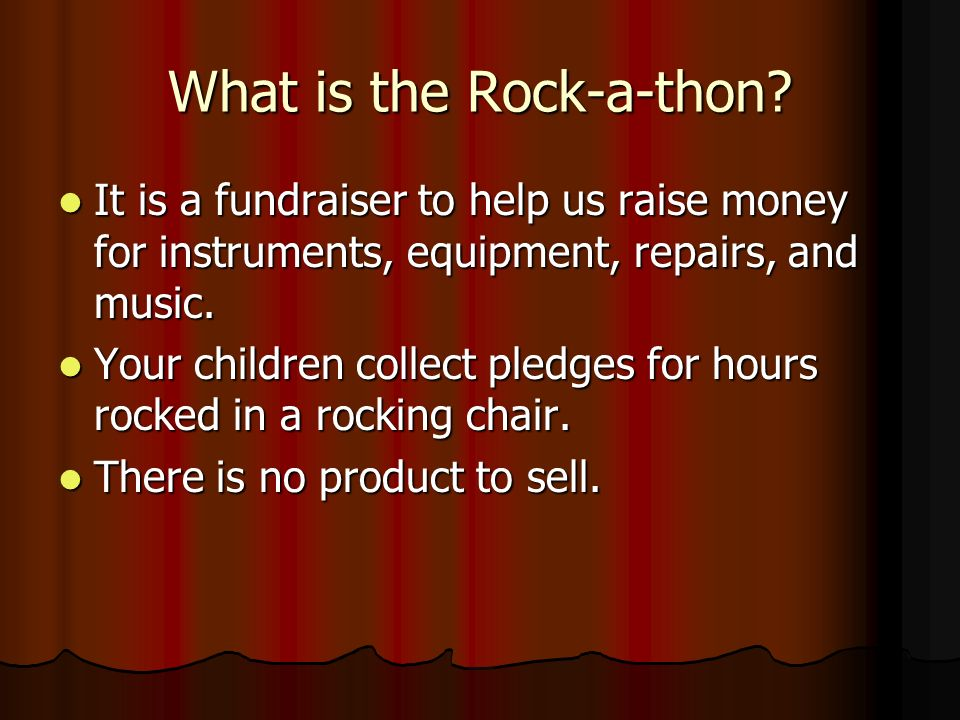 What is the Rock-a-thon.