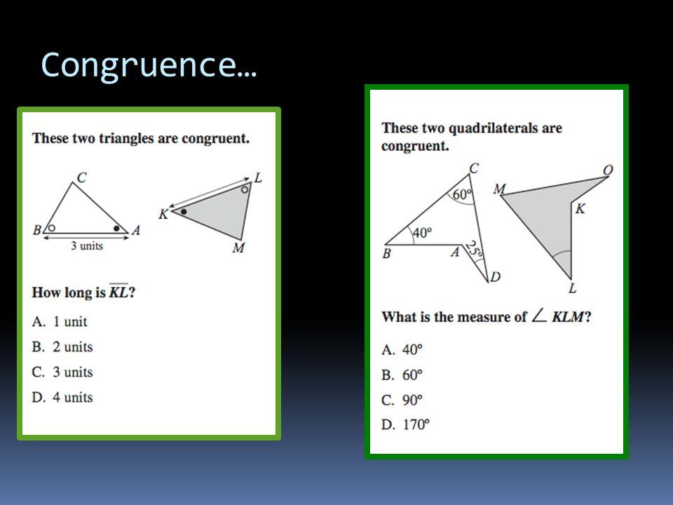 Congruence…
