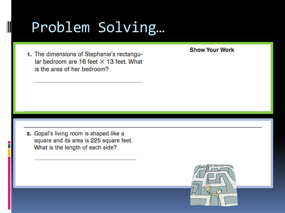 Problem Solving…